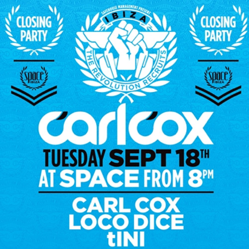 """Carl Cox playing """"Dax J - The Second Renaissance"""" Recorded Live @ Space Ibiza Closing Party 2012"""