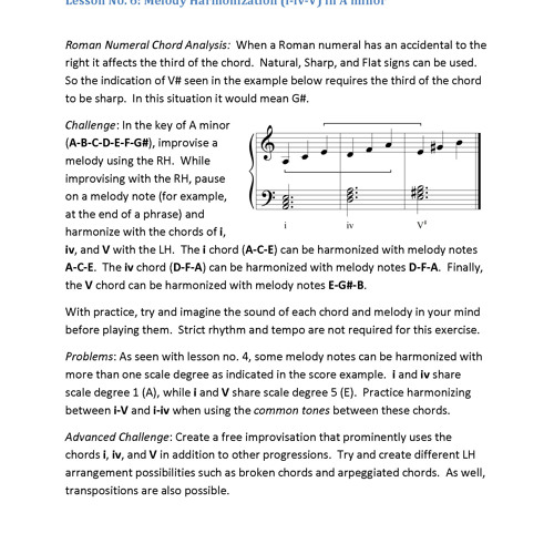 2012-09-22 No. 2 Improv Lesson (i iv and V in A minor)