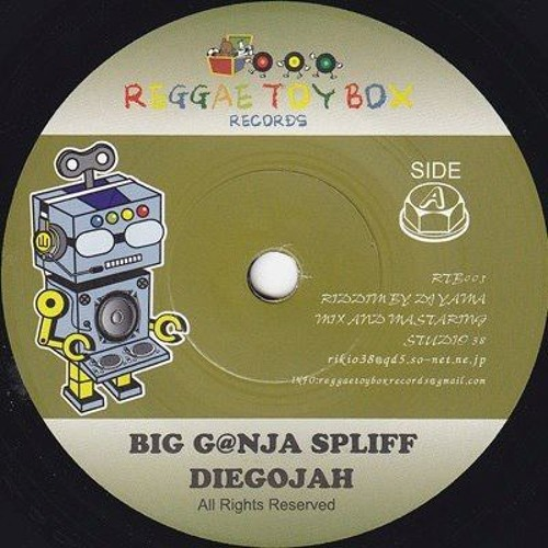 "Diegojah-Big ganja spliff 7"" on Reggae Toybox Records"