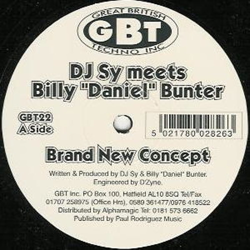 Billy Daniel Bunter & Sy - Brand New Concept 1997 LTD TO 100 DOWNLOADS