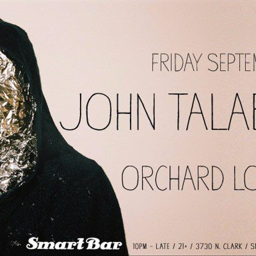 Orchard Lounge - Opening Set For John Talabot @ Smart Bar, Chicago, IL, 9.28.12
