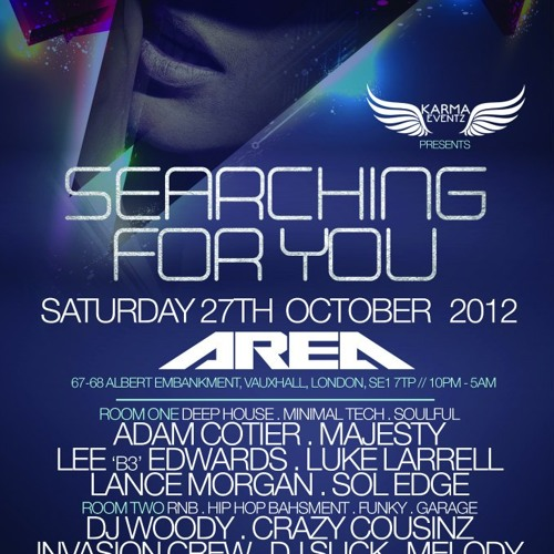 SFU Sat 27th Oct @ Area Vauxhall - DJ Majesty