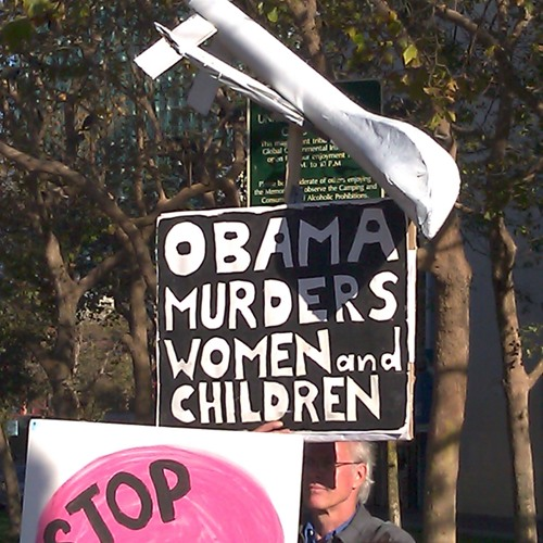Anti-War Protesters Visit Obama Fundraising Event