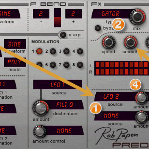 Demo of Rob Papen Predator FX Morphing with LFOs