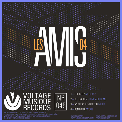 The Glitz - Not Easy // Les Amis 4 (Voltage Musique Records)