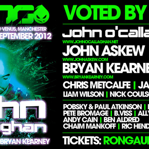 John O'Callaghan Subculture 71 LIVE Rong 2nd Birthday Manchester