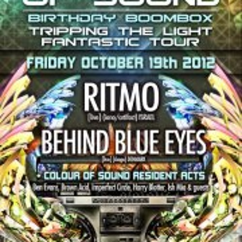 """Colour of Sound """"Tripping the Light Fantastic"""" Birthday Boombox Promo by Harry Blotter Oct 2012"""