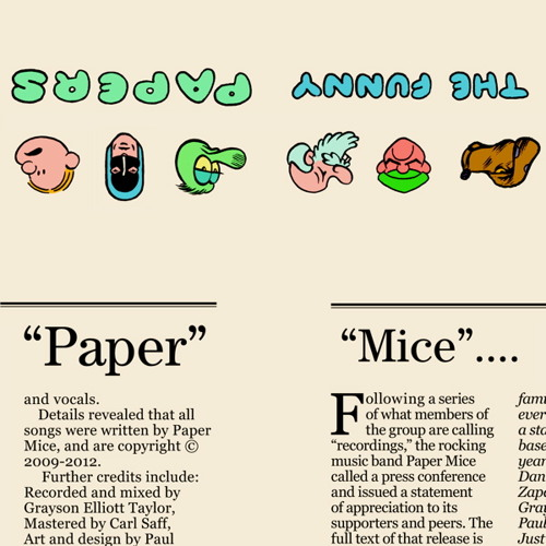 """""""The Funny Papers"""" by Paper Mice (promo)"""