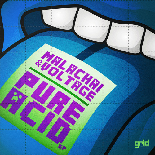 MALACHAI & VOLTAGE (CABIN FEVER) - PURE ACID -PURE ACID E.P - GRID RECORDINGS  - OUT NOW
