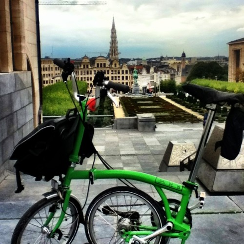 Biking in Brussels