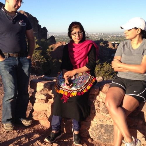 Meeting a hero. friend of Malala, the 14-year-old shot by Taliban. at Summit Trail (Echo Canyon)