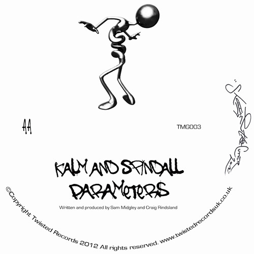 """Parameters"" By Kalm & Spindall -  LMTD Edition White Vinyl TMG003 10th Dec 2012"