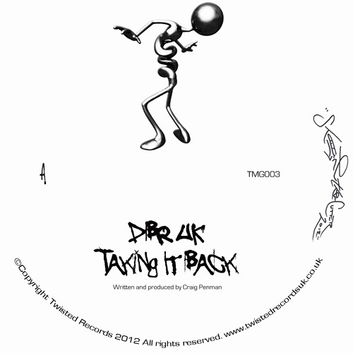 """Taking It Back"" By DBR UK - LMTD Edition White Vinyl TMG003 10th Dec 2012"