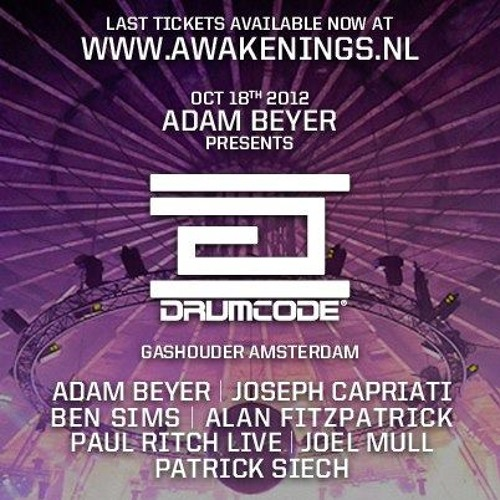 Ben Sims - Drumcode ADE @ Gashouder,Awakenings [18.10.2012] upload by Prisoneer