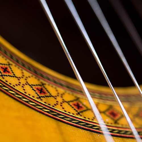 Classical guitar in a modern style