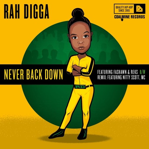 "Rah Digga (feat. Fashawn & REKS) - ""Never Back Down"" (prod. by M-Phazes)"
