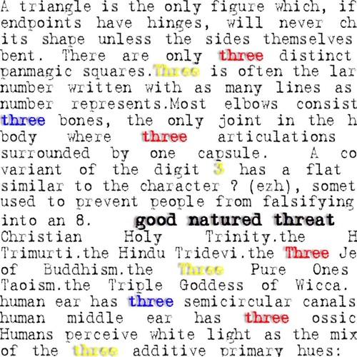 "[SAFR025] Good Natured Threat - ""Three"" (Samplefreunde Records - Germany) (Oct. 26, 2012)"