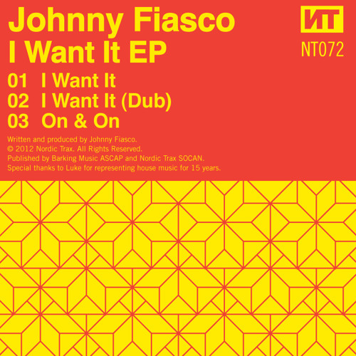 NT072 JOHNNY FIASCO - I Want It EP