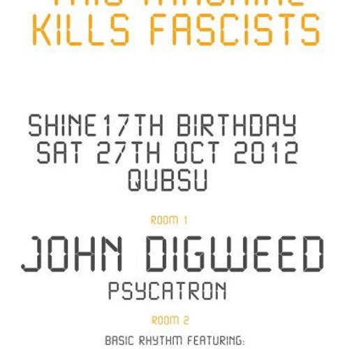 Psycatron - Live @ Shine 17th Birthday with John Digweed, Belfast, October 2012