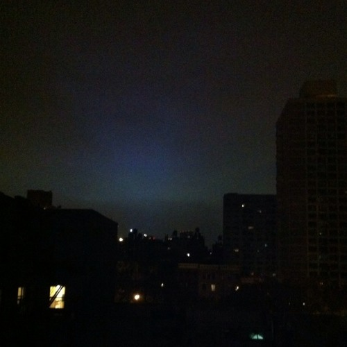 Waiting for Hurricane Sandy  at NYC