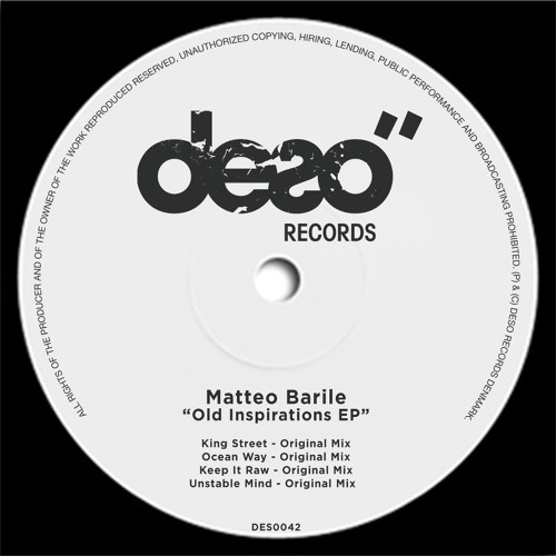 Matteo Barile - Old Inspirations EP PREVIEW