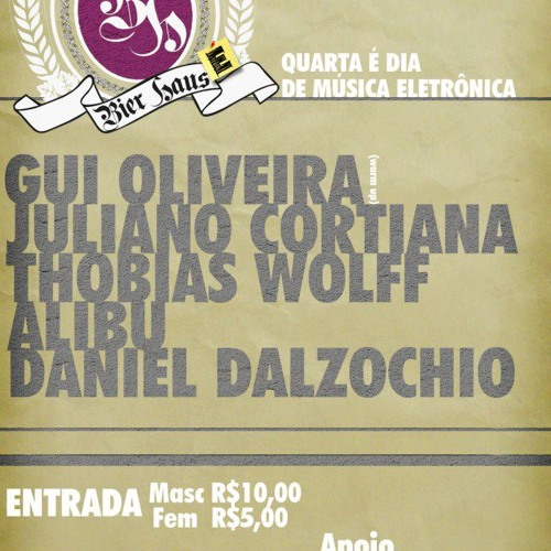 DJ Daniel Dalzochio live @ Bier Haus - Caxias do Sul, RS - 17.10.2012