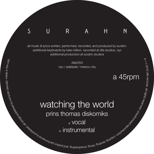 Surahn - Watching The World (Prins Thomas Remix)