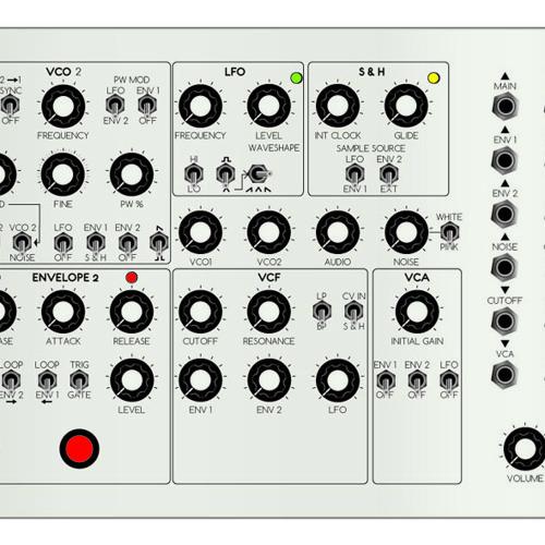 Agent C analog semi-modular synth with MIDI