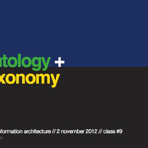 Ontology & Taxonomy