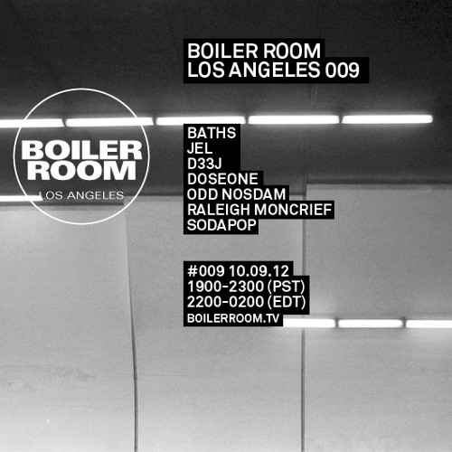 Baths LIVE in the Boiler Room Los Angeles