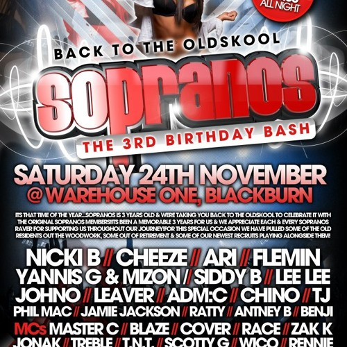 DJ Phil Mac & Cheeze (The BIG Mac & Cheeze - 100% Beef) SOPRANOS 3rd Birthday Promo Mix