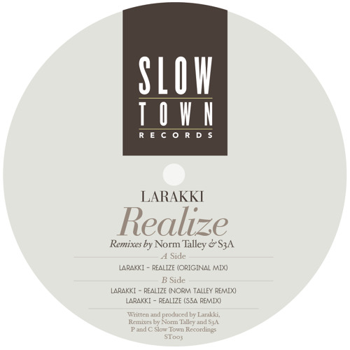 """Slowtown 02  - The Blaxploited Orchestra """"Realize""""   S3A Broken Sensuality remix  """