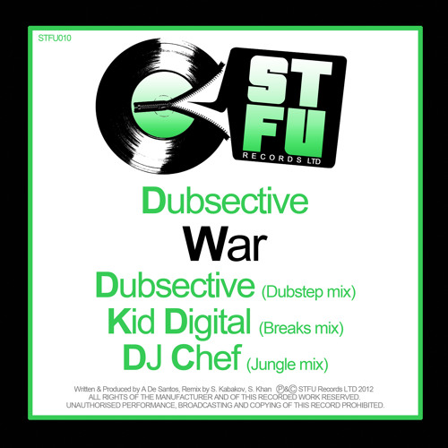 War - Dubsective - DJ Chef Remix - Caution Recordings / Kool London)
