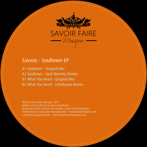 Savvas - What You Need (Original Mix)