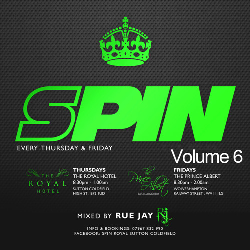 SPIN SESSIONS VOL.6 mixed by Rue Jay