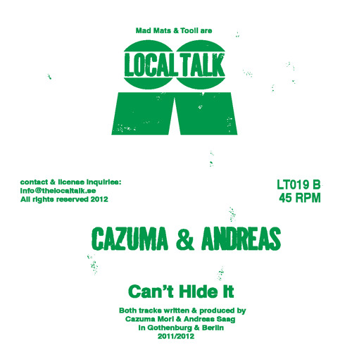 Cazuma & Andreas - Cant Hide It (LT019, Side B)