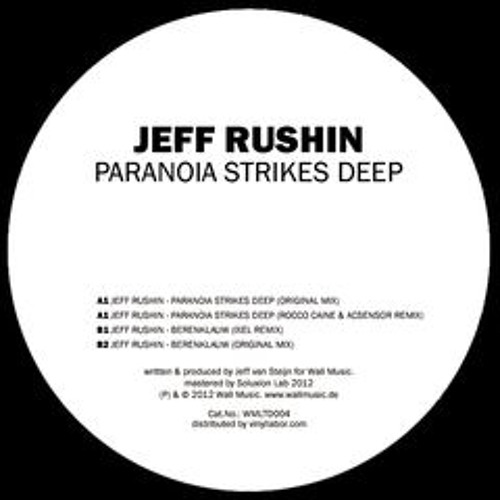 Paranoia strikes deep EP - incl. Rocco Caine and Acensor + Ixel rmx