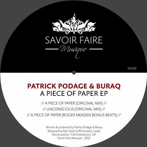 Patrick Podage & buraq - a piece of paper (SFM029)