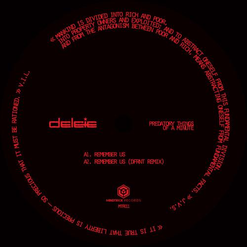 Delete - Remember Us / Neva 12'' [MTR011 - PRE-ORDER]