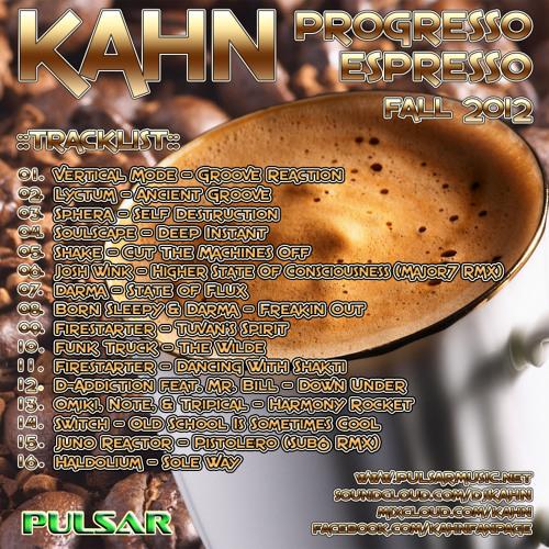 KAHN - PROGRESSO ESPRESSO VOL.1 - Fall 2012