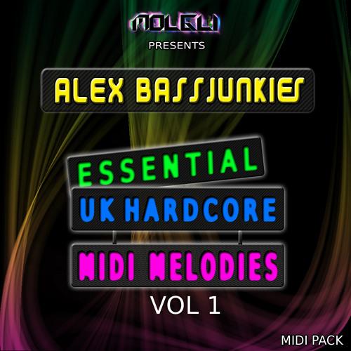 Alex BassJunkies Essential UK Hardcore MIDI Melodies - OUT NOW!  £15