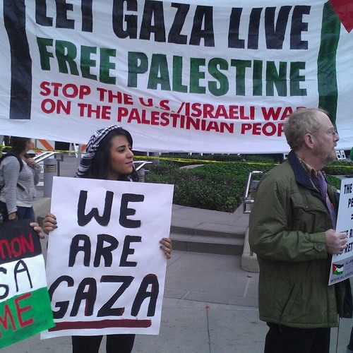 Pro-Palestine Activists Rally at Israeli Consulate in Los Angeles