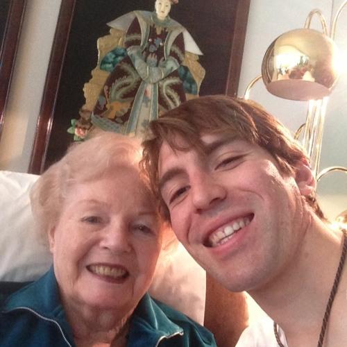 Virginia (Nana) Donahoe talks to Evan Tenenbaum