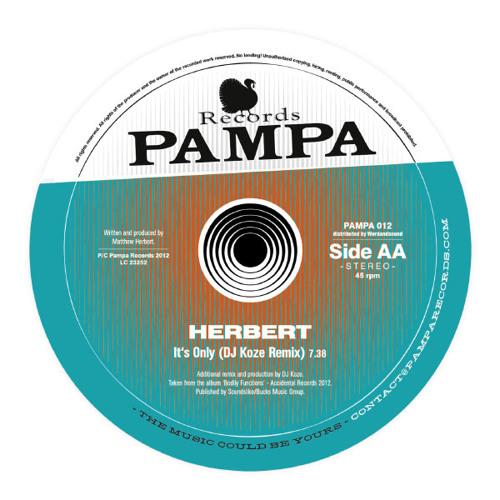 Mathew Herbert - It's Only (DJ Koze Remix) [PAMPA]