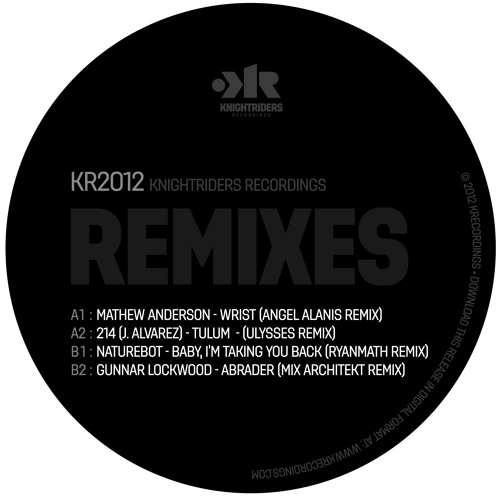 Knightriders 2012 Vinyl promo: The Remixes - NOW available!