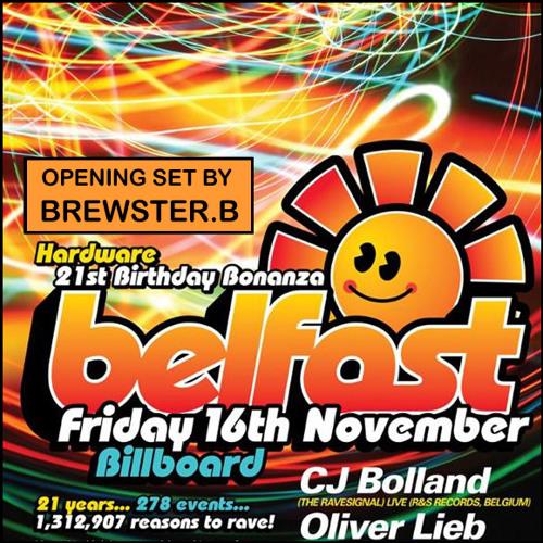 Brewster.B's DJ Set From Belfast 21st Birthday 16/11/12