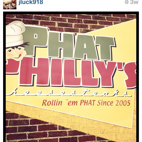 Phat Pat RIP Phlow at Phat Philly's Cheesesteaks