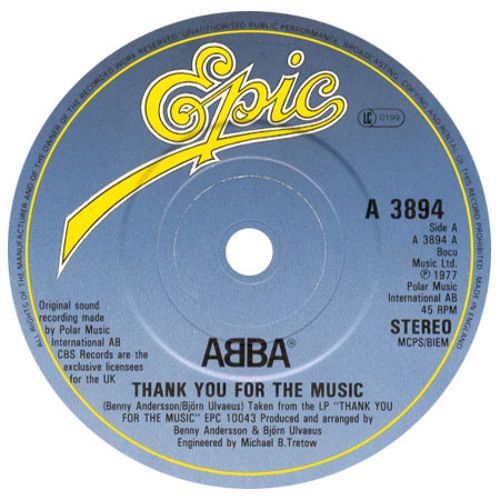 Abba - Thank You For The Music (Onazis Caribis Boot)