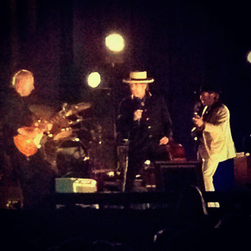 Mr. Jones (center stage with harp, Donnie on lap steel, Stu on cream Strat, Charlie on silver Telly)