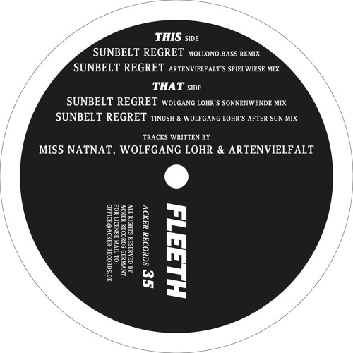 Miss NatNat - Sunbelt Regret (Tinush & Wolfgang Lohr's After Sun Mix)